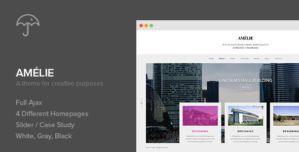 Amelie - WP Theme for Creatives & Photographers - Creative WordPress