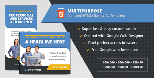 HTML5 Multipurpose Banner Ad Templates - CodeCanyon Item for Sale