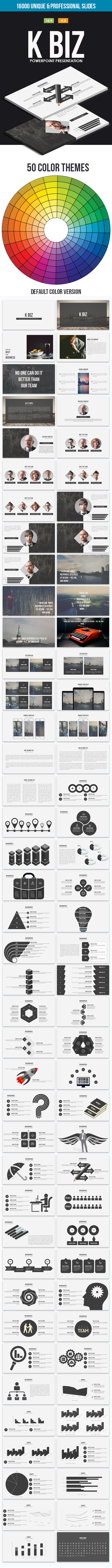 K Biz Powerpoint Template - Business PowerPoint Templates