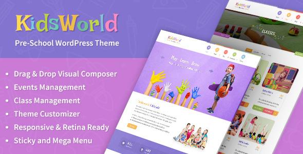 Download KidsWorld - Kindergarten, Child Care & Preschool Responsive WP Theme nulled version