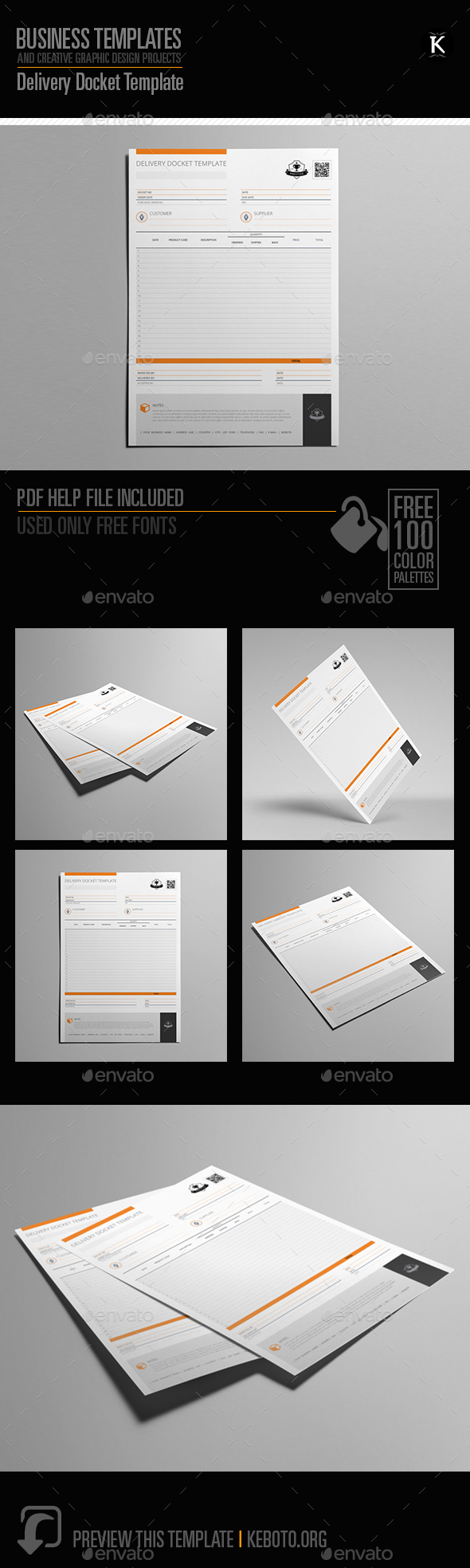 Delivery Docket Template - Miscellaneous Print Templates