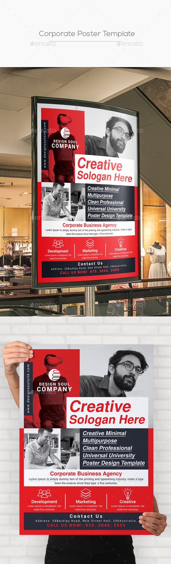 Corporate Poster Template - Signage Print Templates