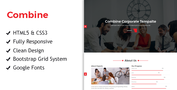 Combine - One Page Corporate Responsive HTML Template