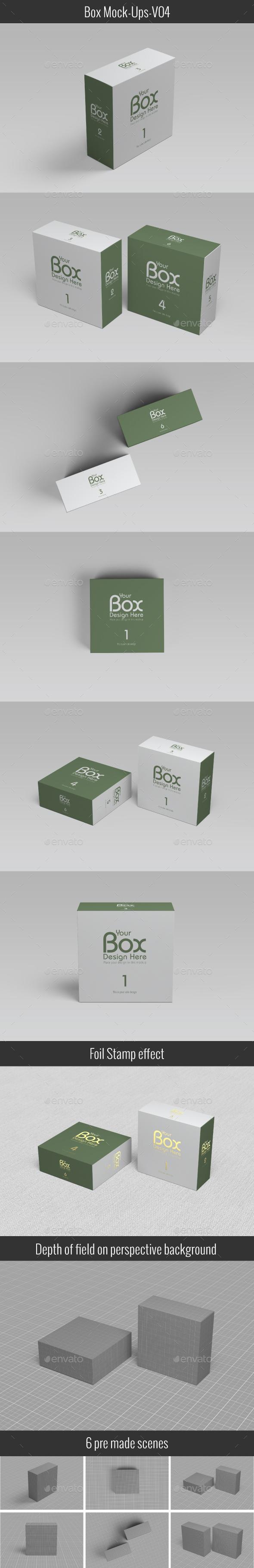 Package Box Mockups V-04