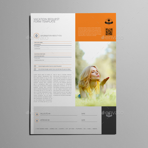 Vacation Request Form Template By Keboto | Graphicriver