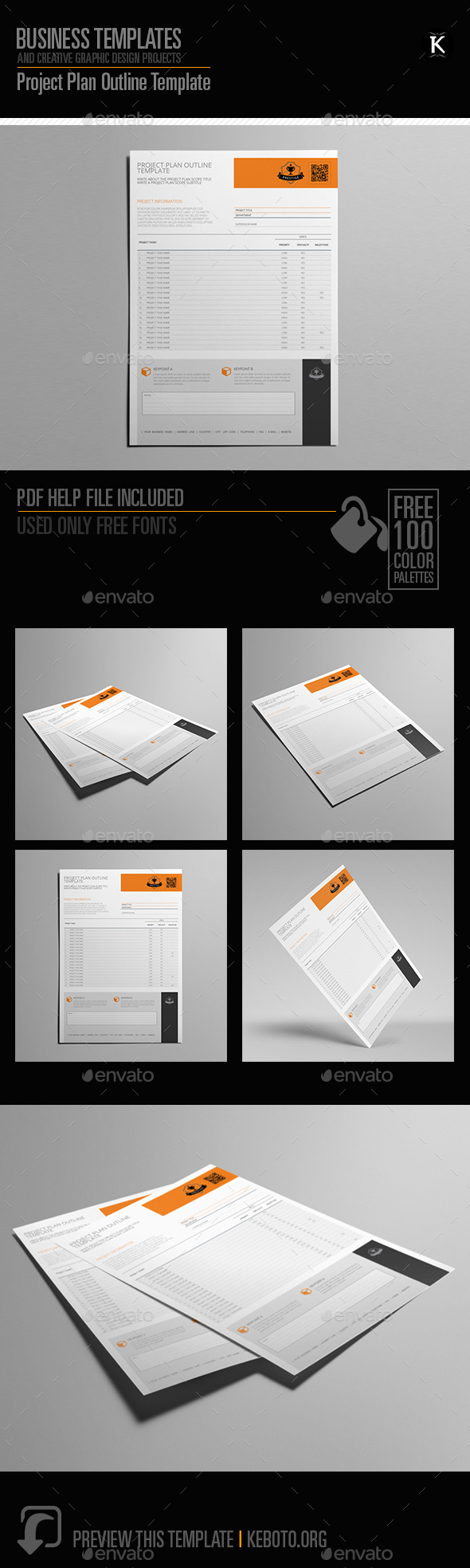 Project Plan Outline Template - Miscellaneous Print Templates