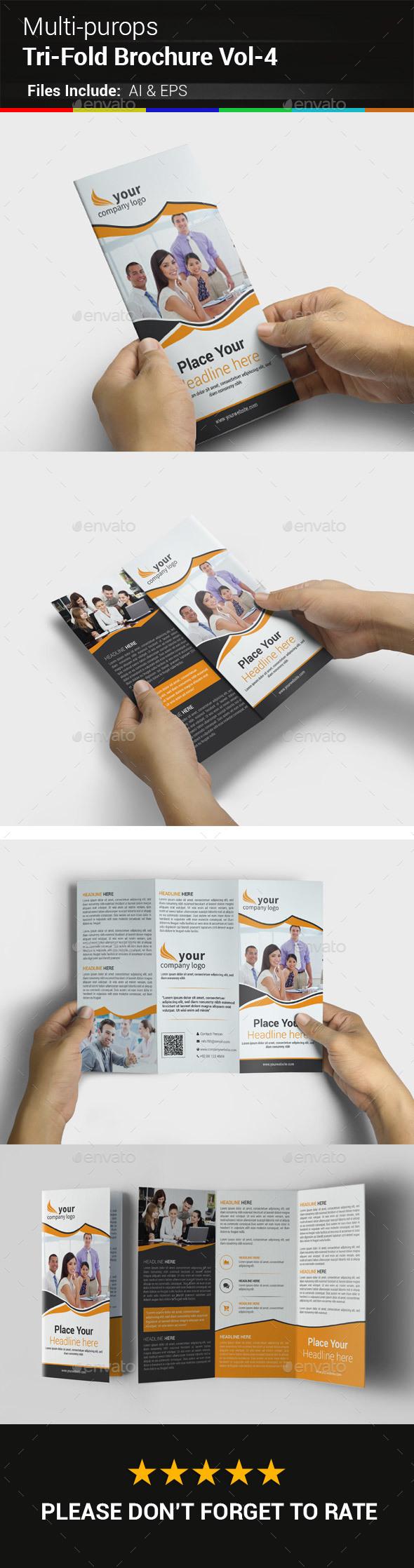 Multipurpose Business Tri-Fold Brochure Vol-4 - Corporate Brochures
