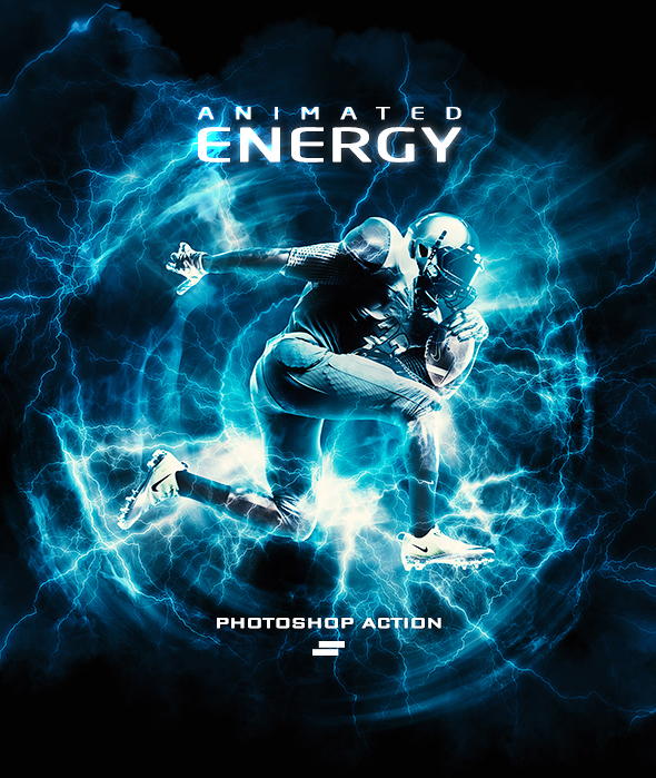 Gif Animated Energy Light Effects Photoshop Action - Photo Effects Actions