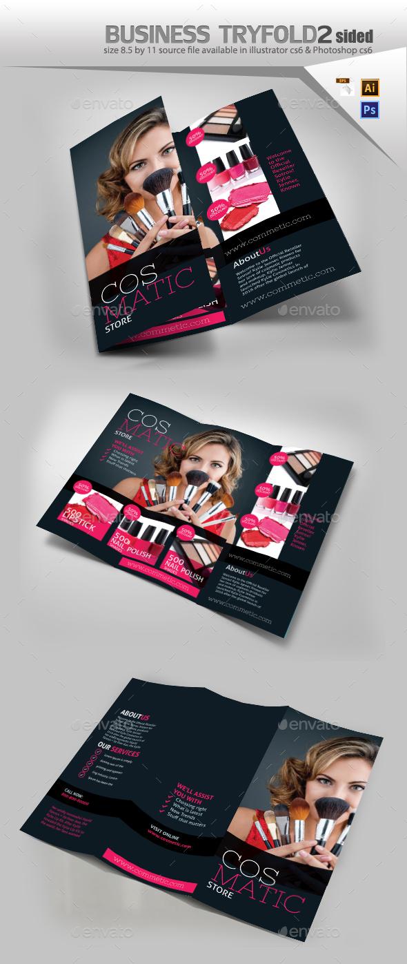 Cosmetic Store Brochure - Brochures Print Templates