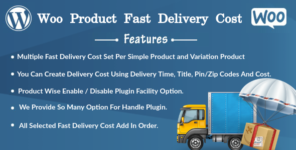 Woo Product Fast Delivery Cost (WooCommerce) images
