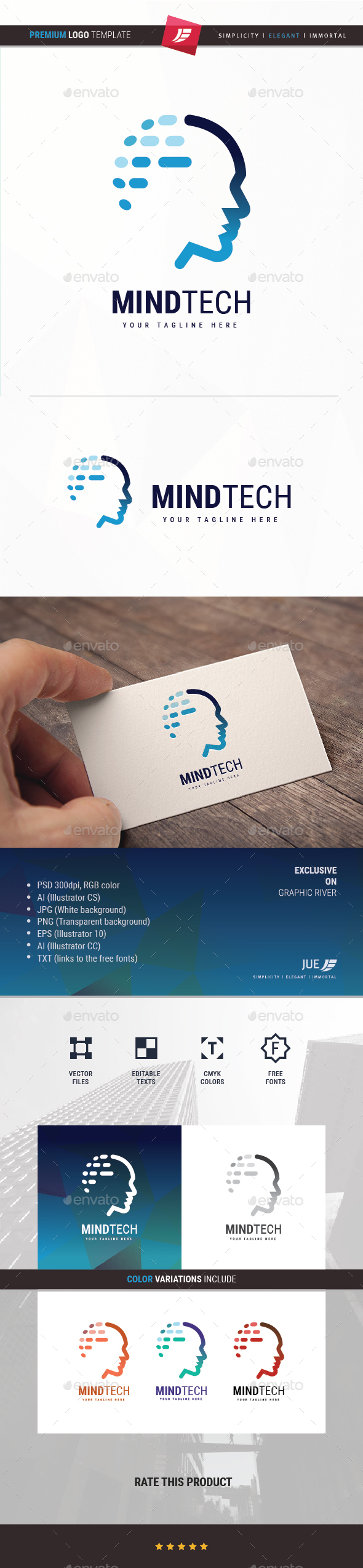 GraphicRiver Mind Tech Logo 20289061