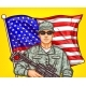 Vector Pop Art Patriotic Illustration a Male