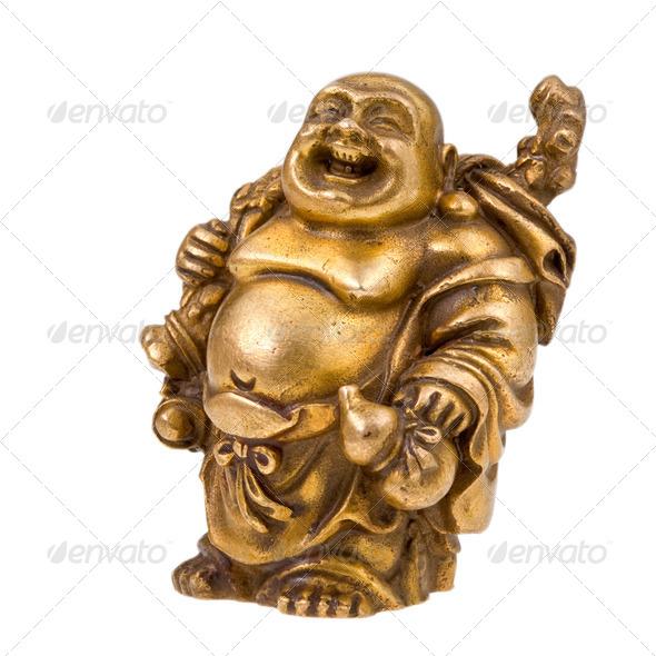 Chinese god - Hotei - Stock Photo - Images