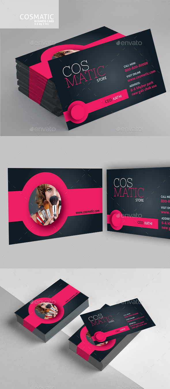Cosmetic Business Card - Business Cards Print Templates