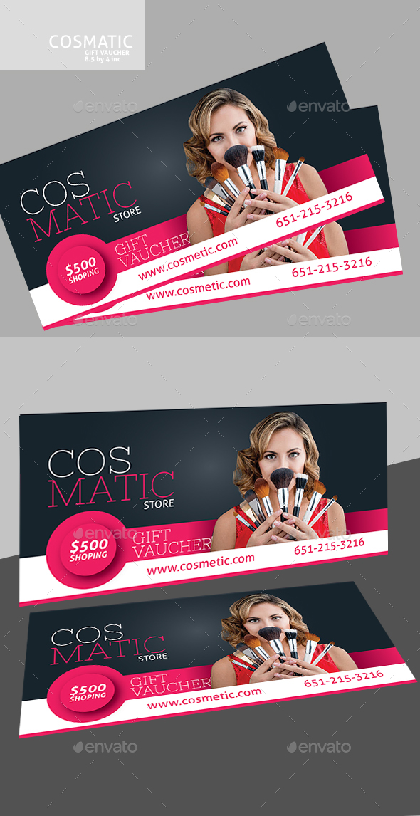 Cosmetic Voucher - Cards & Invites Print Templates