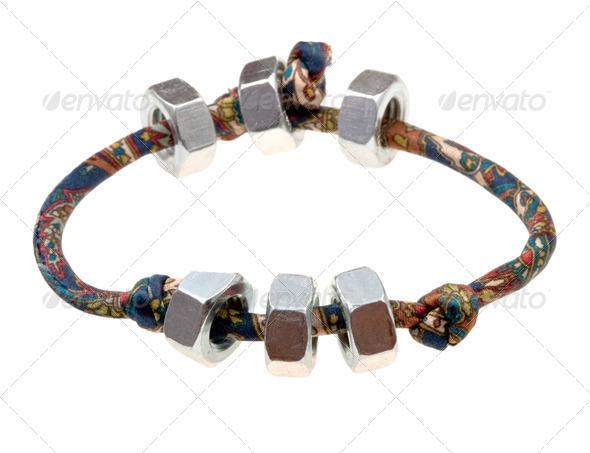textile lady's bracelet - Stock Photo - Images