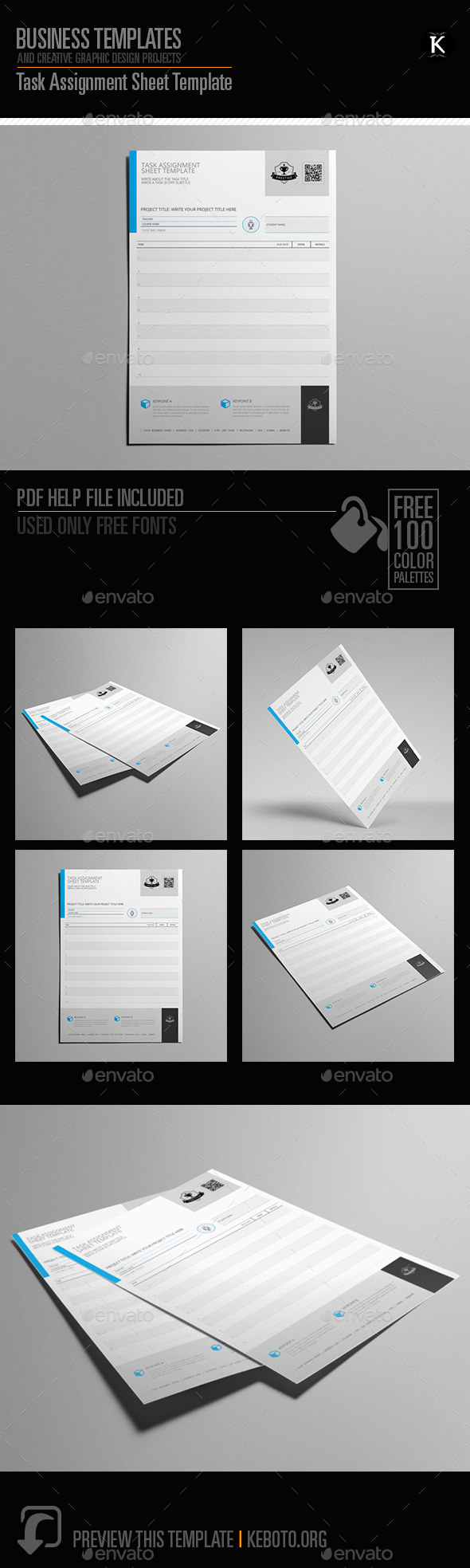Task Assignment Sheet Template   Miscellaneous Print Templates