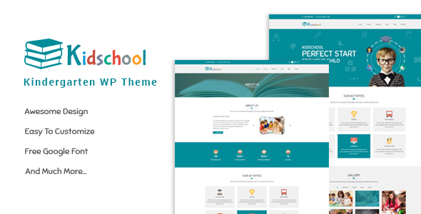 Kidschool - kids & Kindergarten school WordPress Theme - Education WordPress