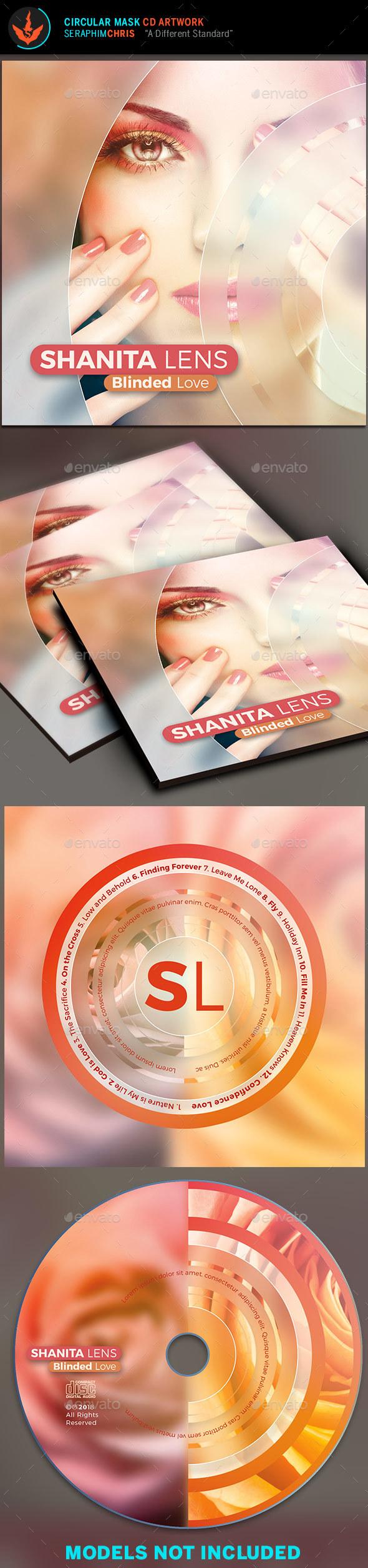 Circular Mask CD Artwork Template - CD & DVD Artwork Print Templates