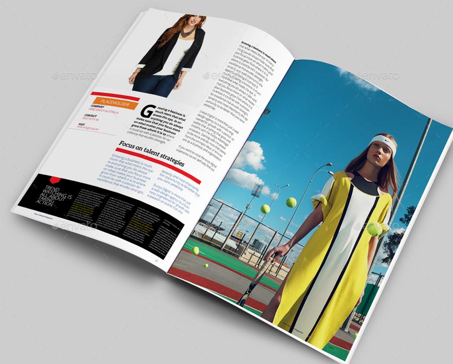 Elixir Fashion Magazine Indesign Template by evolysdigital ...