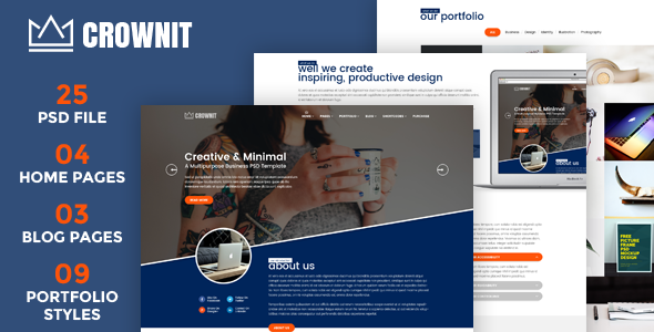CrownIT – Multipurpose PSD Template