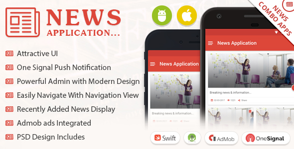 News App Combo - Android / iOS