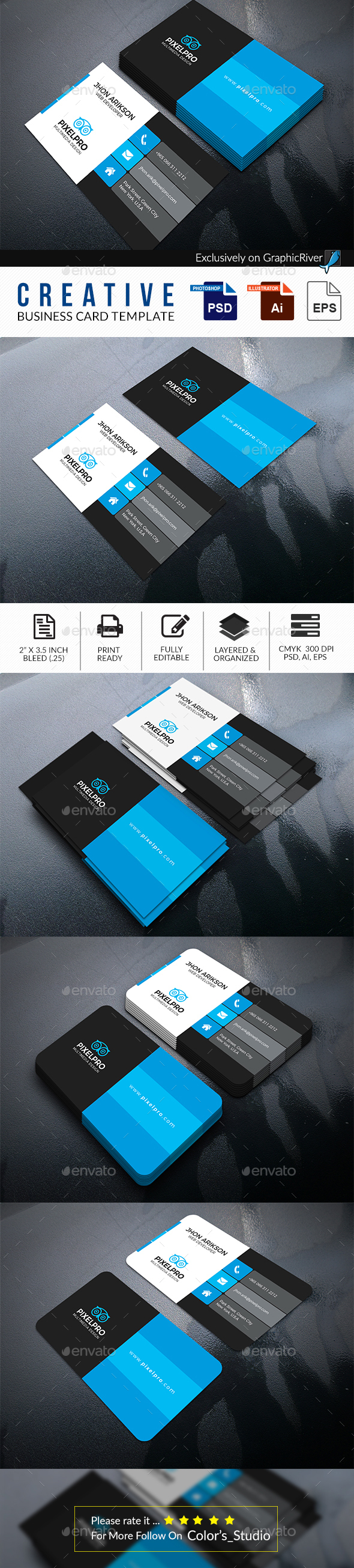 Business Card Print Template - Business Cards Print Templates