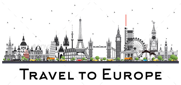 GraphicRiver Famous Landmarks in Europe 20290054