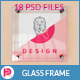 Glass Frame Poster Mock-up - GraphicRiver Item for Sale