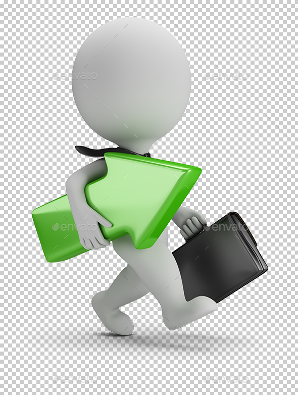 3D Small People - Successful Businessman - Characters 3D Renders