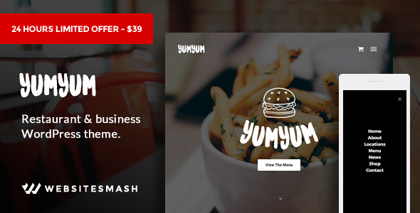 YumYum - Restaurant & Business WordPress Theme
