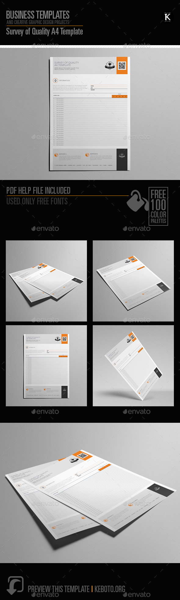 Survey of Quality A4 Template - Miscellaneous Print Templates