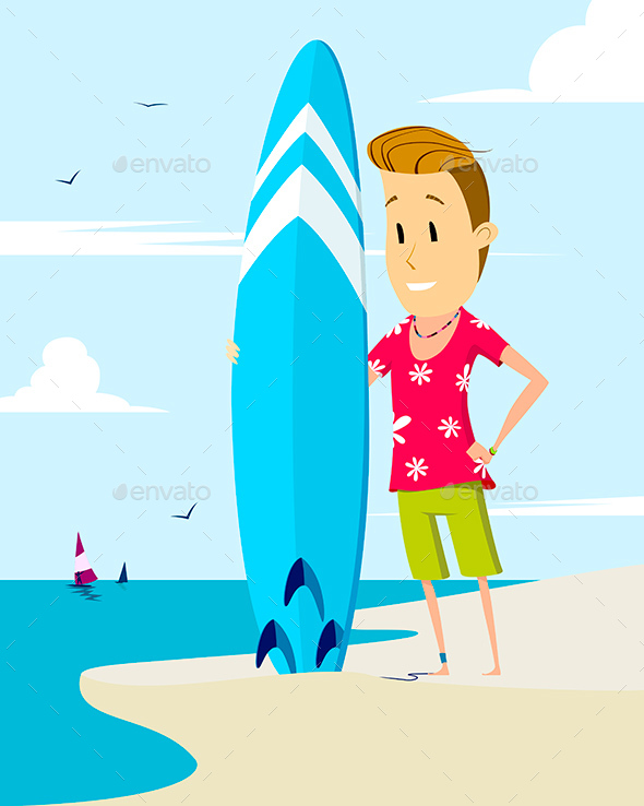 Surfer - People Characters
