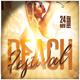 Beach Festival Flyer Template