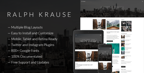 Ralph Krause - Author's WordPress Theme