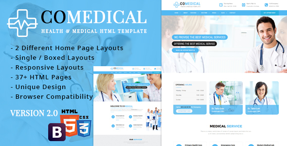 CoMedical - Health & Medical Responsive Template - Health & Beauty Retail