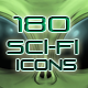 180 Sci-fi Game Icons - GraphicRiver Item for Sale