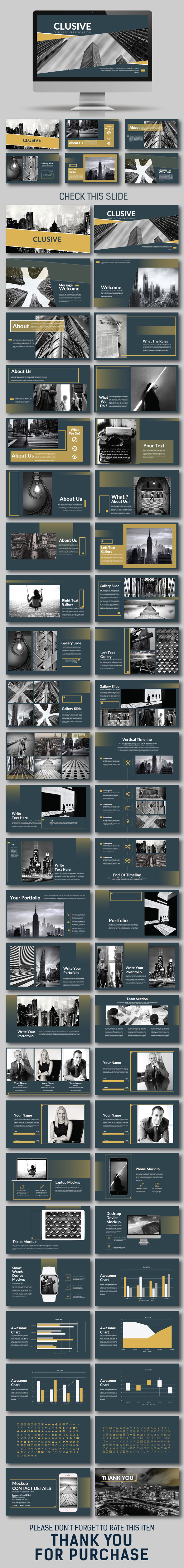 Clusive Presentation Template - Business PowerPoint Templates