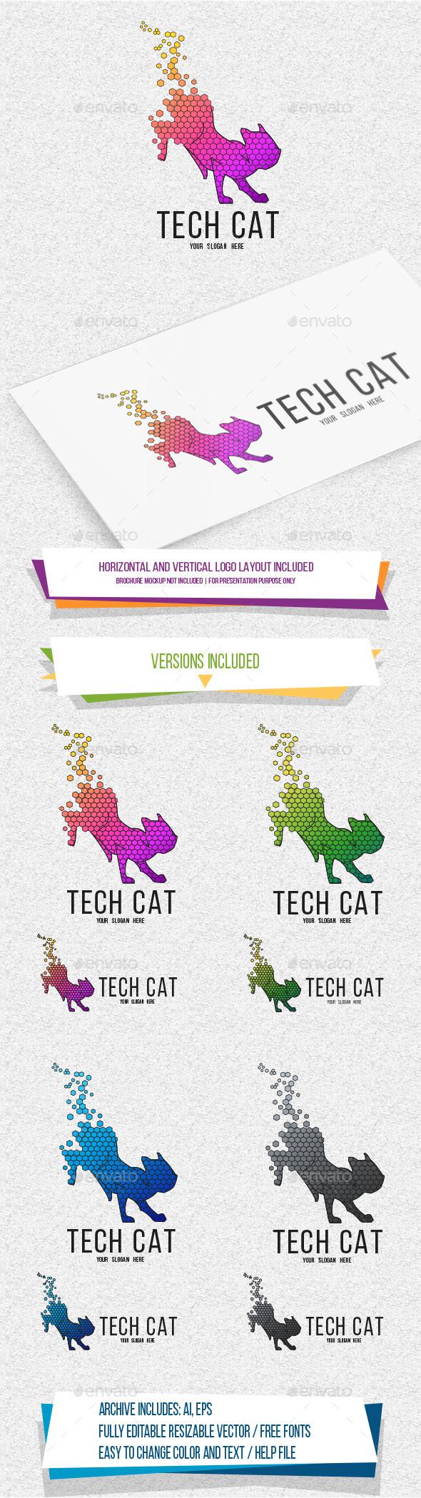 TechCat Logo - Animals Logo Templates