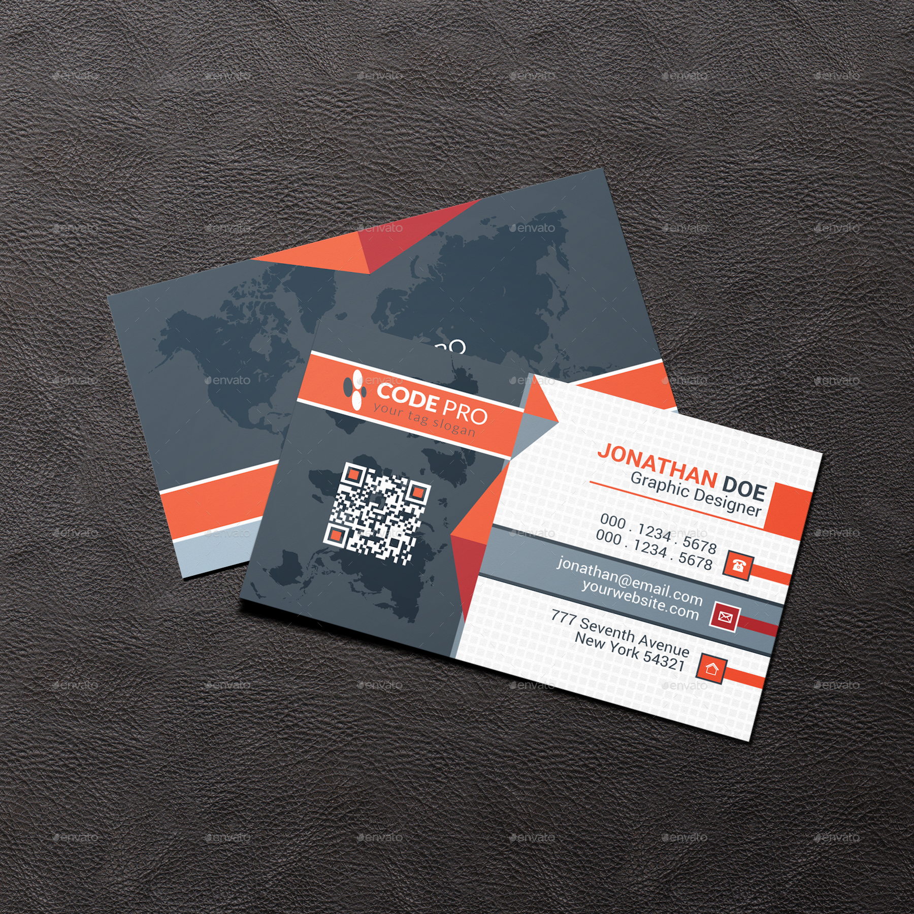 corporate business card by i up