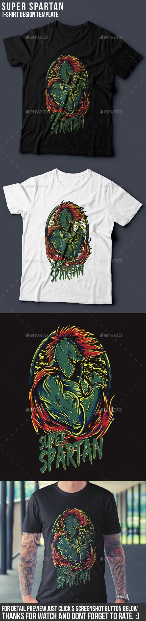 Super Spartan T-Shirt Design - Sports & Teams T-Shirts