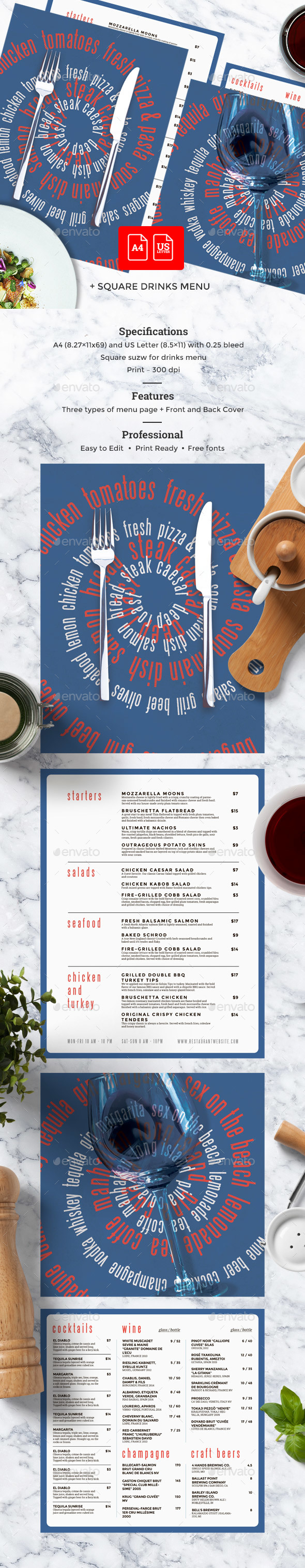 GraphicRiver Cafe Menu 20291639
