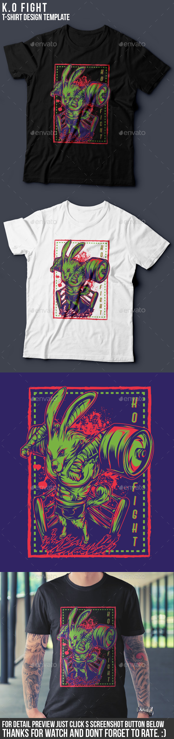 K.O Fight T-Shirt Design - Academic T-Shirts