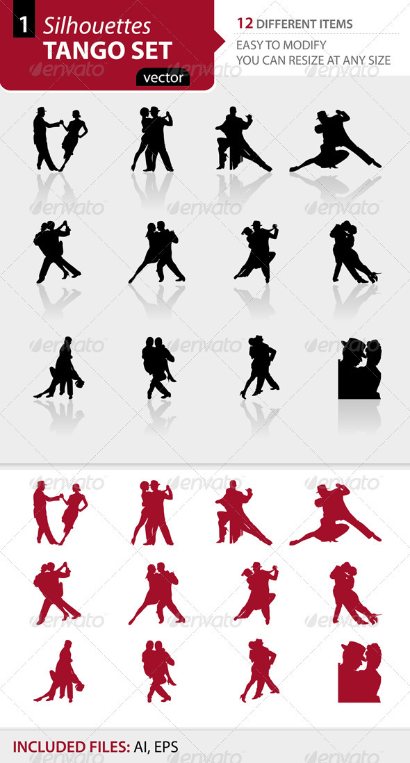 Tango silhouettes Set1 - People Characters