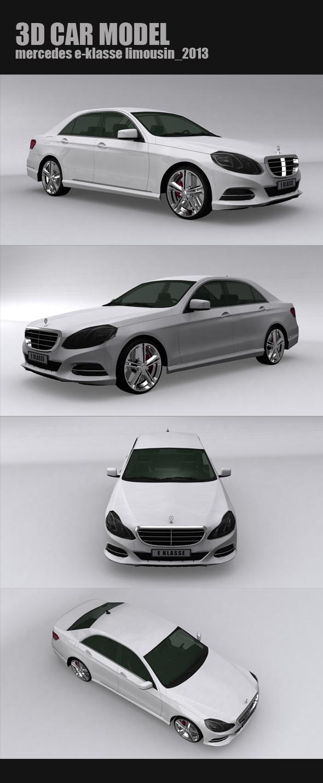 Mercedes E-Klasse Limousin 2013 - 3DOcean Item for Sale