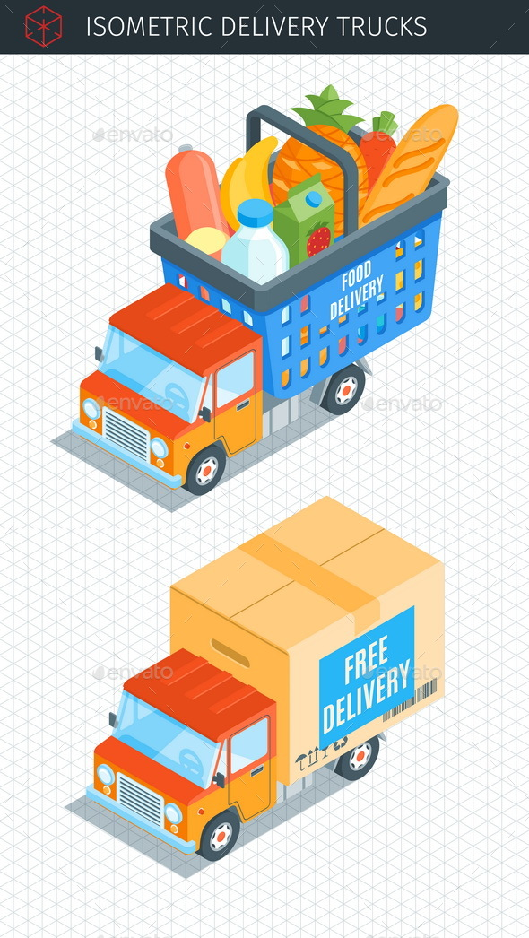 Delivery Trucks - Objects Vectors