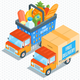 Delivery Trucks - GraphicRiver Item for Sale