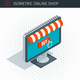 Isometric Monitor with Awning - GraphicRiver Item for Sale