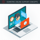 Isometric Online Support Concept - GraphicRiver Item for Sale