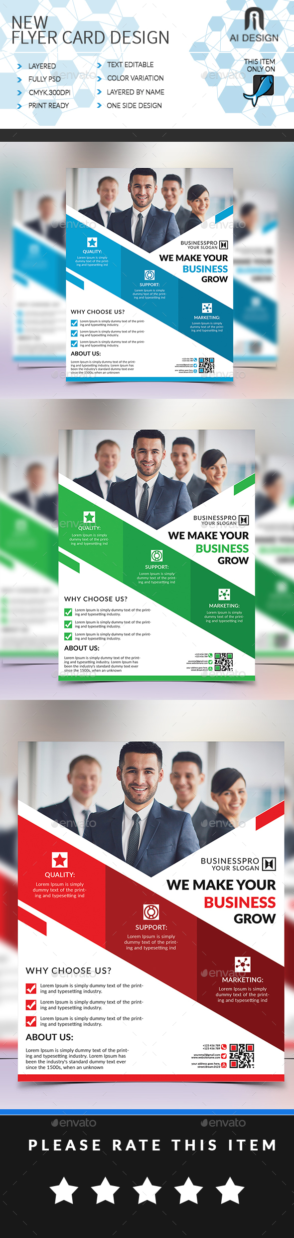 Business Template - Flyers Print Templates